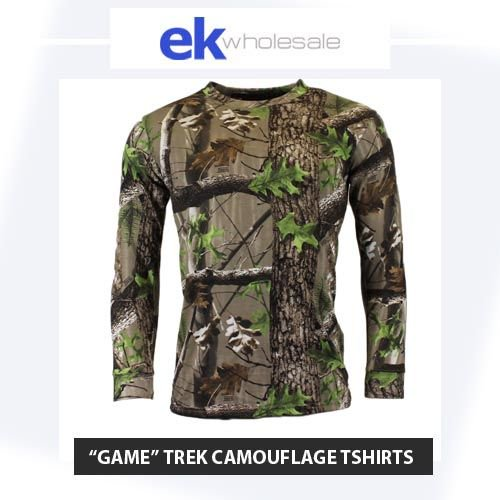 a2d370c7ea1bf Game TREK Licenced Camouflage Tshirts. Long sleeve and short sleeve! Made  with the same quality as the rest of the GAME Tshirt range!