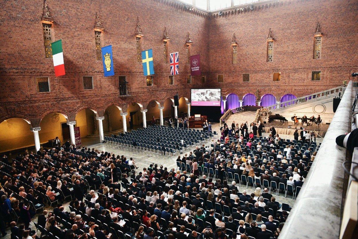 Spring conferment ceremony in Stockholm City Hall. Congratulations to Karolinska Institutet's new doctors of medicine!