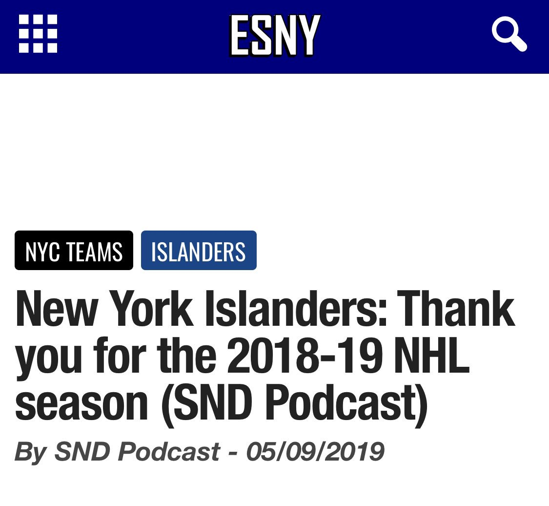 We are super proud to announce our newest partnership with @elitesportsny ! We are all super excited for this new opportunity!  #sndblog #sndpodcast #blog #sndpodcastchannel #podcast #sports #elitesportsny #ESNY #Isles #LGM #GiantsPride #WWE #pinstripepride #mets #TakeFlightpic.twitter.com/EQhn9DU5oY