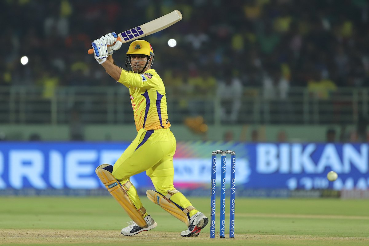 A good season for the CSK could earn Dhoni another shot at glory on the world stage. (Credits: Twitter/ IPL)