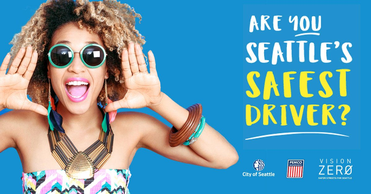 HEY YOU! --- YEA, YOU!  Seattle's Safest Driver is back & launches May 13! Download the app & get ready! The safest driver wins $5,000, all thanks to our partners at @PEMCO. You ready for a friendly competition?? #VisionZero #SeattlesSafestDriver http://fal.cn/AL8X