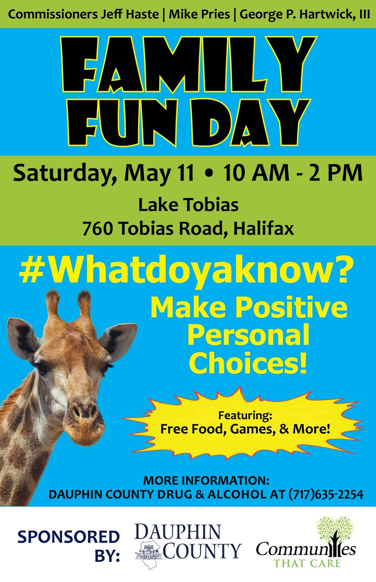 Happening Saturday: Family Fun Day in northern Dauphin that's focused on drug and alcohol prevention and education