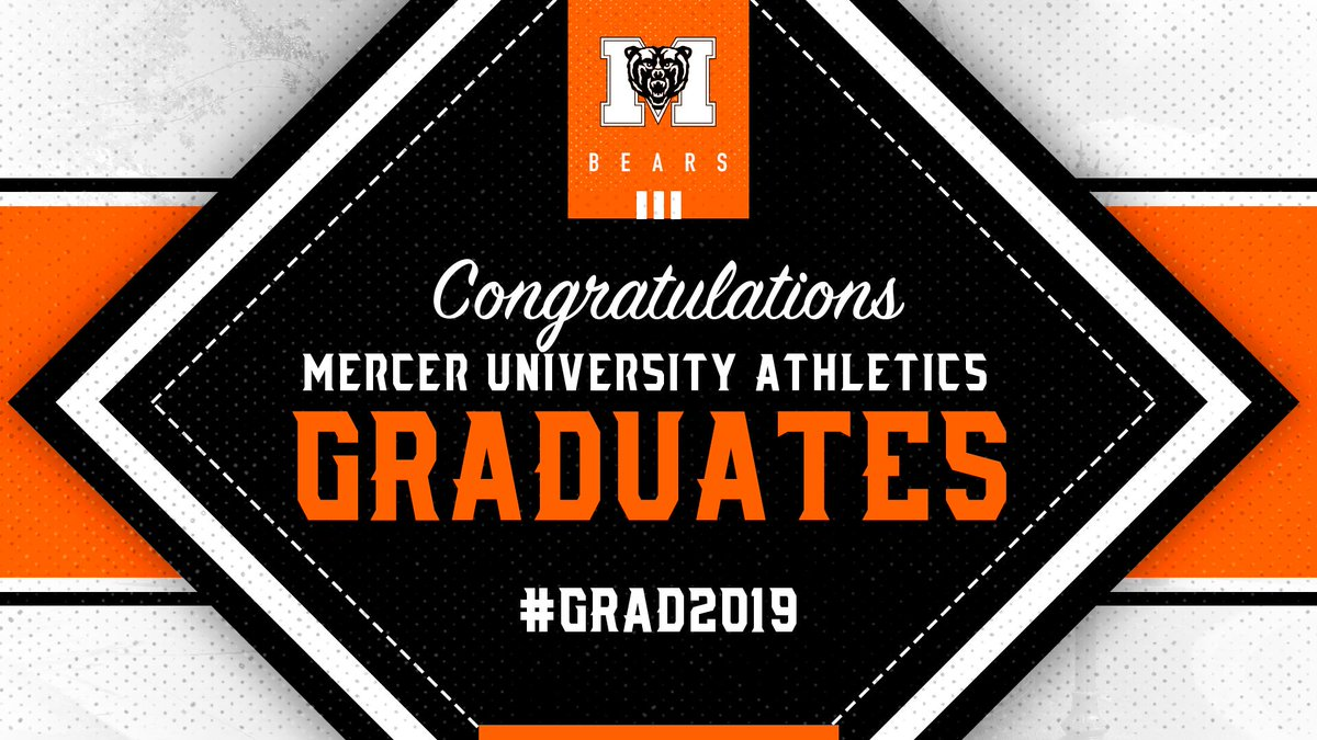 Mission accomplished. 🙌🎓  Congrats to all of our student-athletes walking across the stage today!  #RoarTogether   #Mercer2019