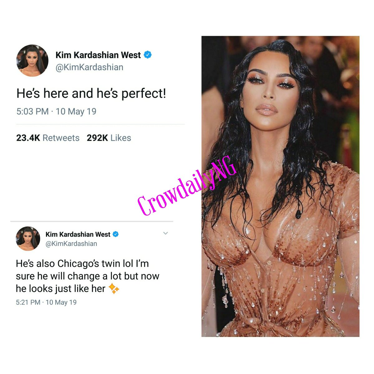 699428c99bbb2 Kim Kardashian announces the birth of their fourth child. . .