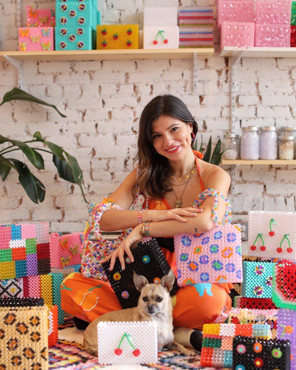 (& more) star on designer Susan Alexandra's lovely beaded bags. Head into her studio on today's story, then shop her goods on http://instagram.com/shop https://www.instagram.com/p/BxSvrkZhxJf/
