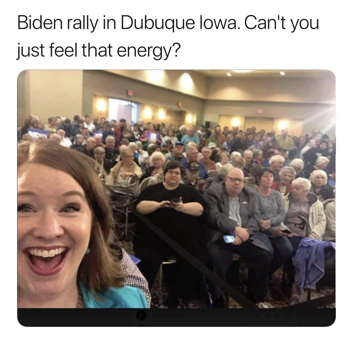 Look at Joe Biden's rally , do he actually think he has a chance