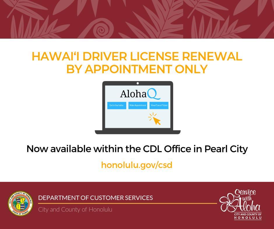 wahiawa drivers license office hours