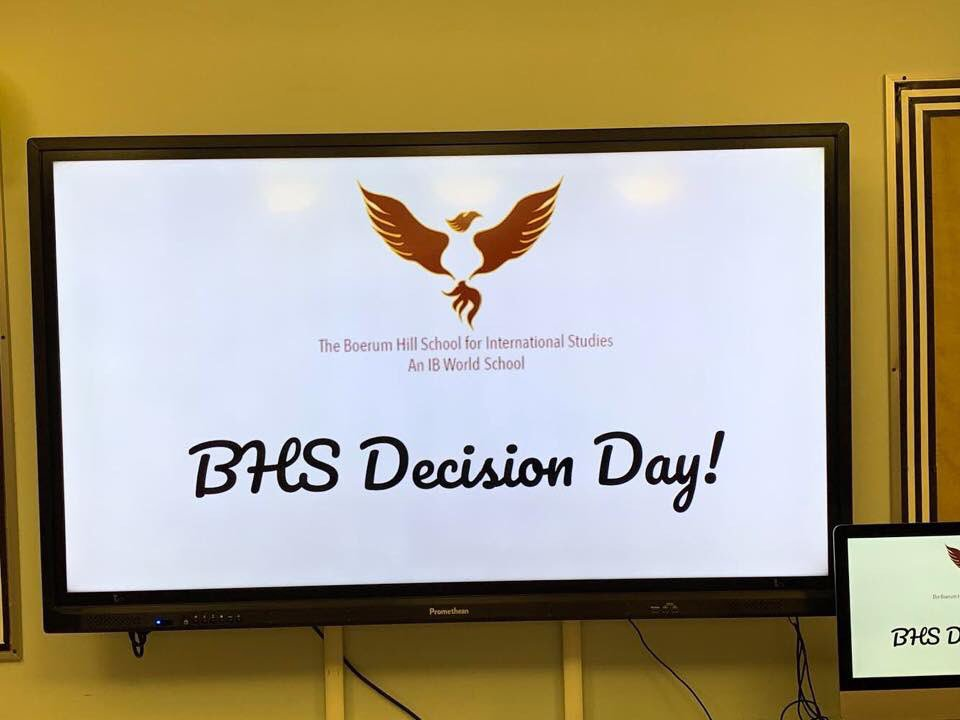 BHS Decision Day! We'll miss our graduating seniors but we're so proud of them!