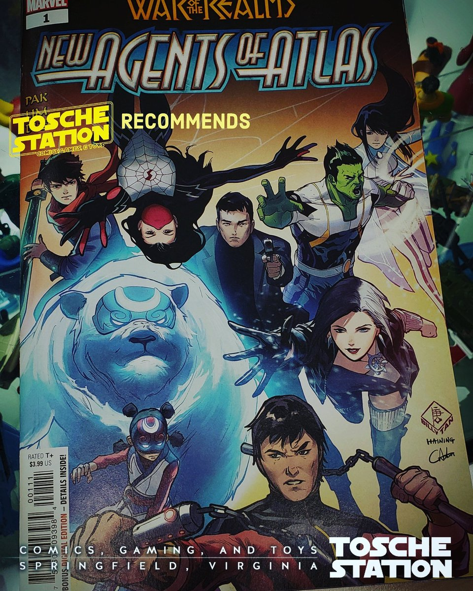 #ToscheRecommends NEW AGENTS OF ATLASWritten by #GregPak with art by #GangHyukLim, in #WarOfTheRealms: #NewAgentsOfAtlas, a 4-issue limited series, former S.H.I.E.L.D. agent & leader of the Atlas recruits #MsMarvel, #Brawn, #Silk, and #ShangChi, to neutralize Malekith's forces. – at Huntsman Square Shopping Center