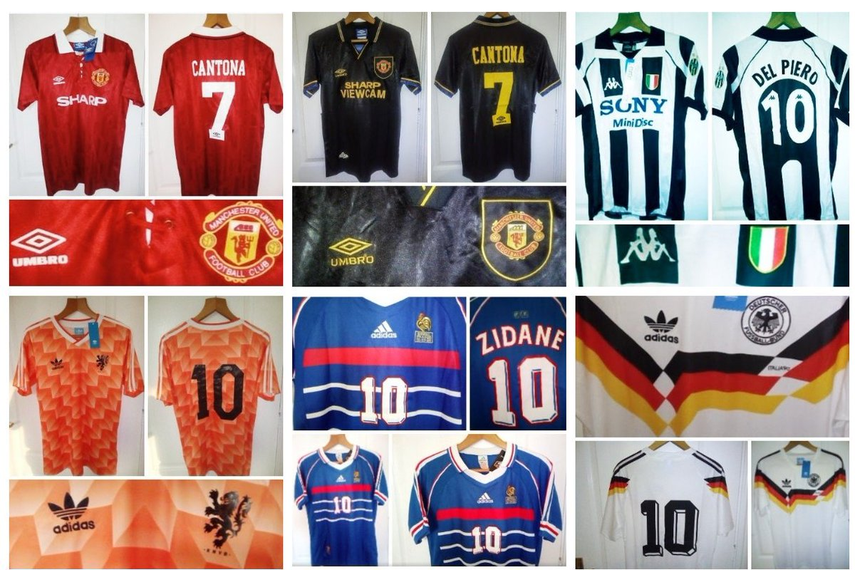 e5f8ef9c3 Just some of the retro jerseys currently for sale.  ManchesterUnited   Cantona  Umbro