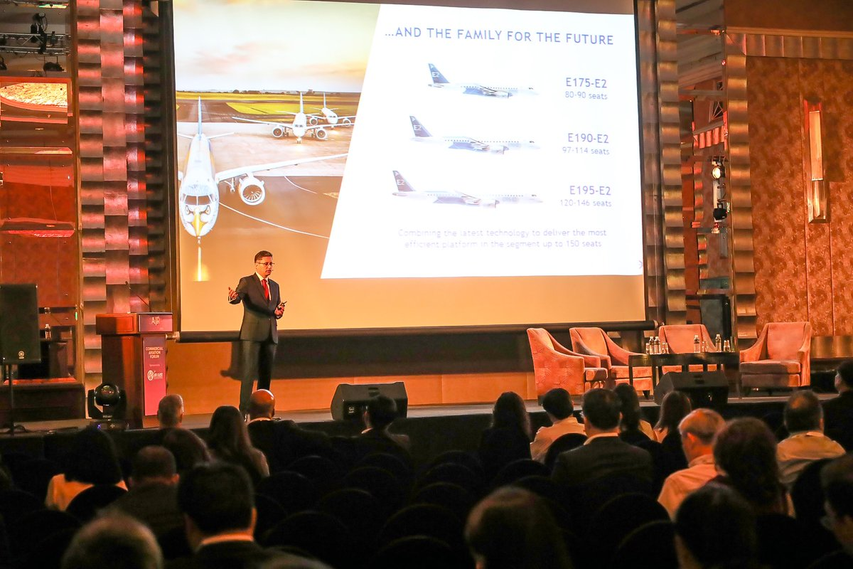 I presented at the big Air Convention Asia in Bangkok on May 2, showing how airlines can improve network connectivity with smaller narrowbody jets. #Embraer #Ejets #AirConventionAsia