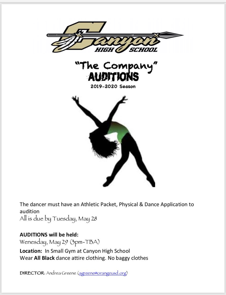 Dance Company Auditions May 29! Tweet added by The Company