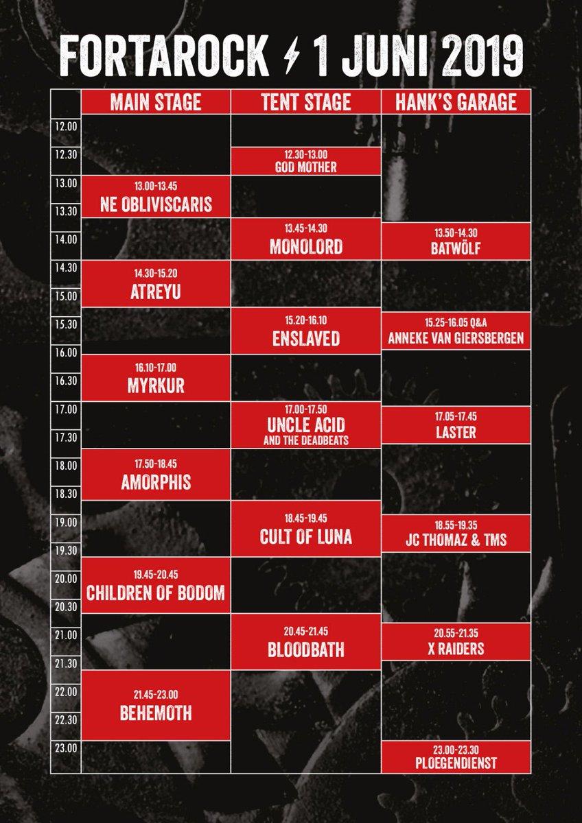 🇳🇱 @fortarock schedule, see you next month! #amorphis #queenoftimetour #queenoftimetour2019 #greybeardcm #cobraagency #fortarock https://t.co/5ySqjT7pHH