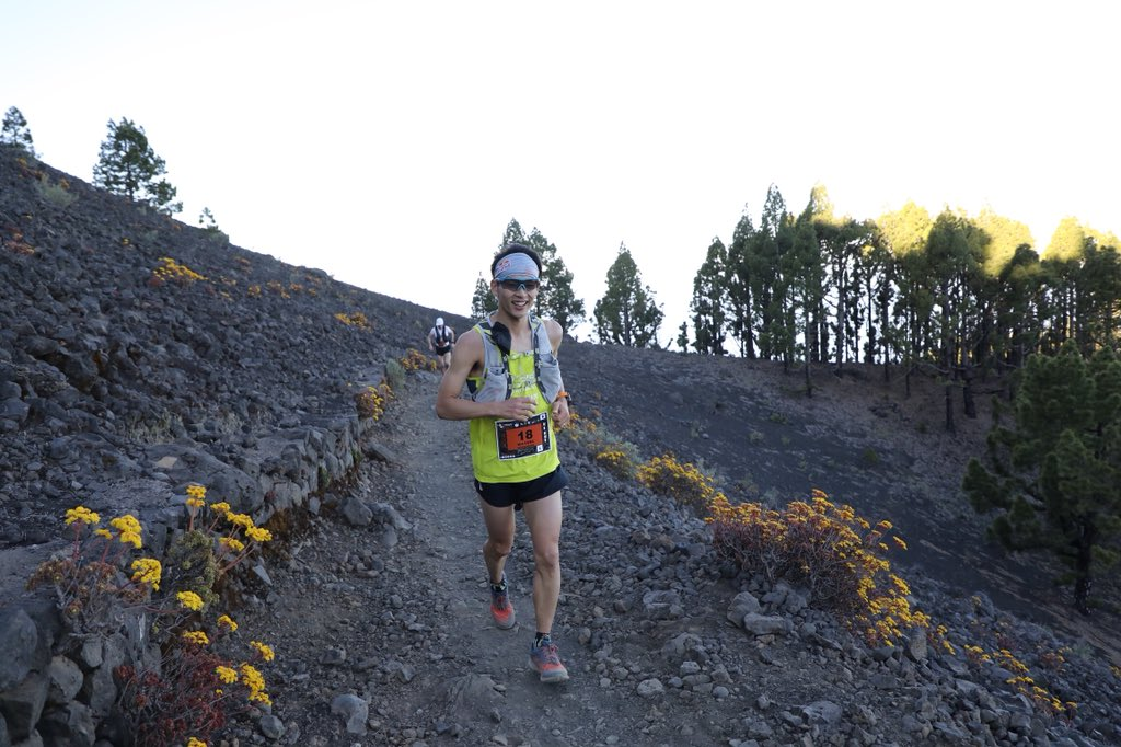 """Ruy Ueda is 9th man at 22k. He says, """"I'm already empty."""" He's been sick for 2 days unfortunately. #Transvulcania"""