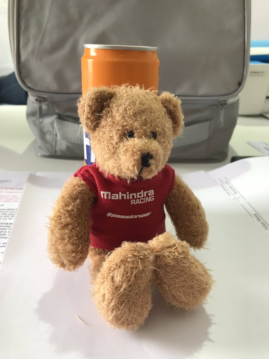 Thanks @MahindraRacing , the bear has arrived. I've named this one Felix in honour of @FRosenqvist first @IndyCar pole position yesterday!!