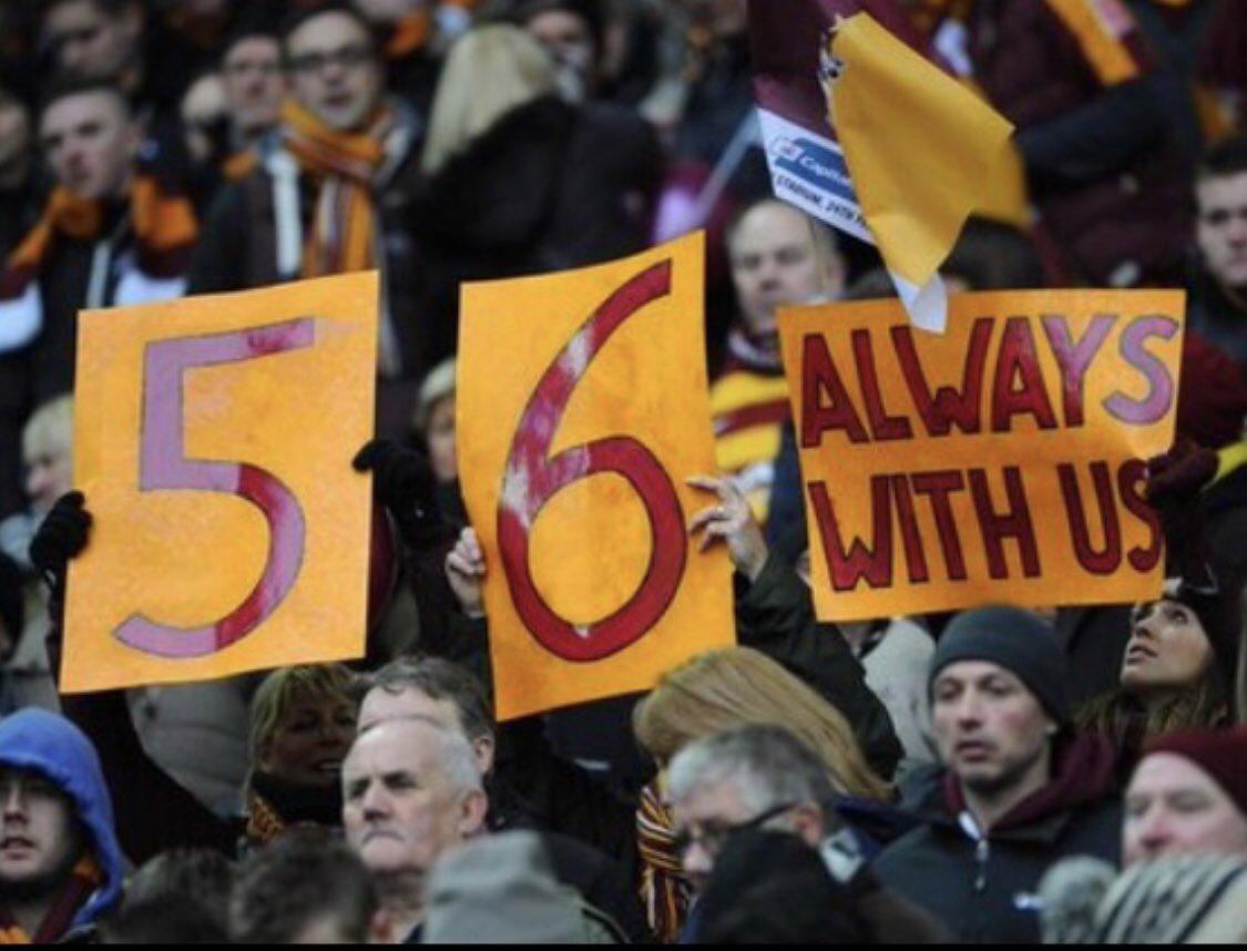 Today we remember the 56 who died in the Bradford City Stadium Fire. As a former Manager & player of the club it is still heartbreaking that this happened in its history. My thoughts are with all the families & fans who are still grieving.