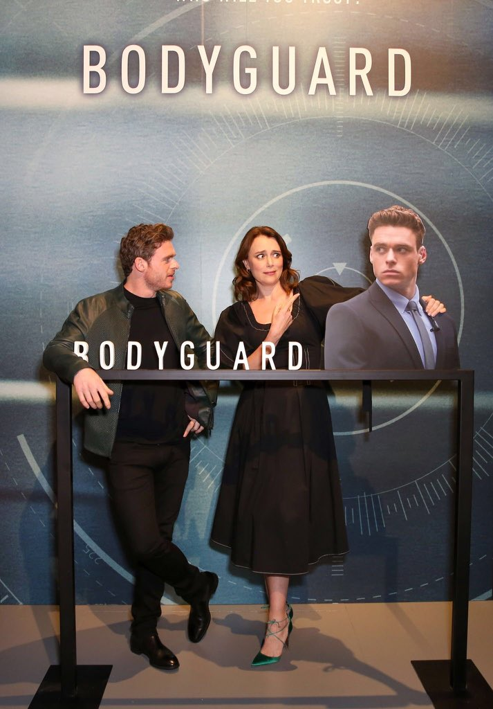 Keeley Hawes and Richard Madden at the Bodyguard screening and Q&A