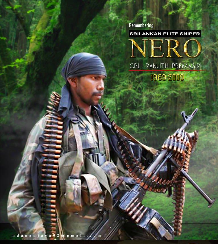 Ranjith Premasiri Madalana (Nero) was listed 14 Of The World's Deadliest Snipers.  (LankaXpress.com )