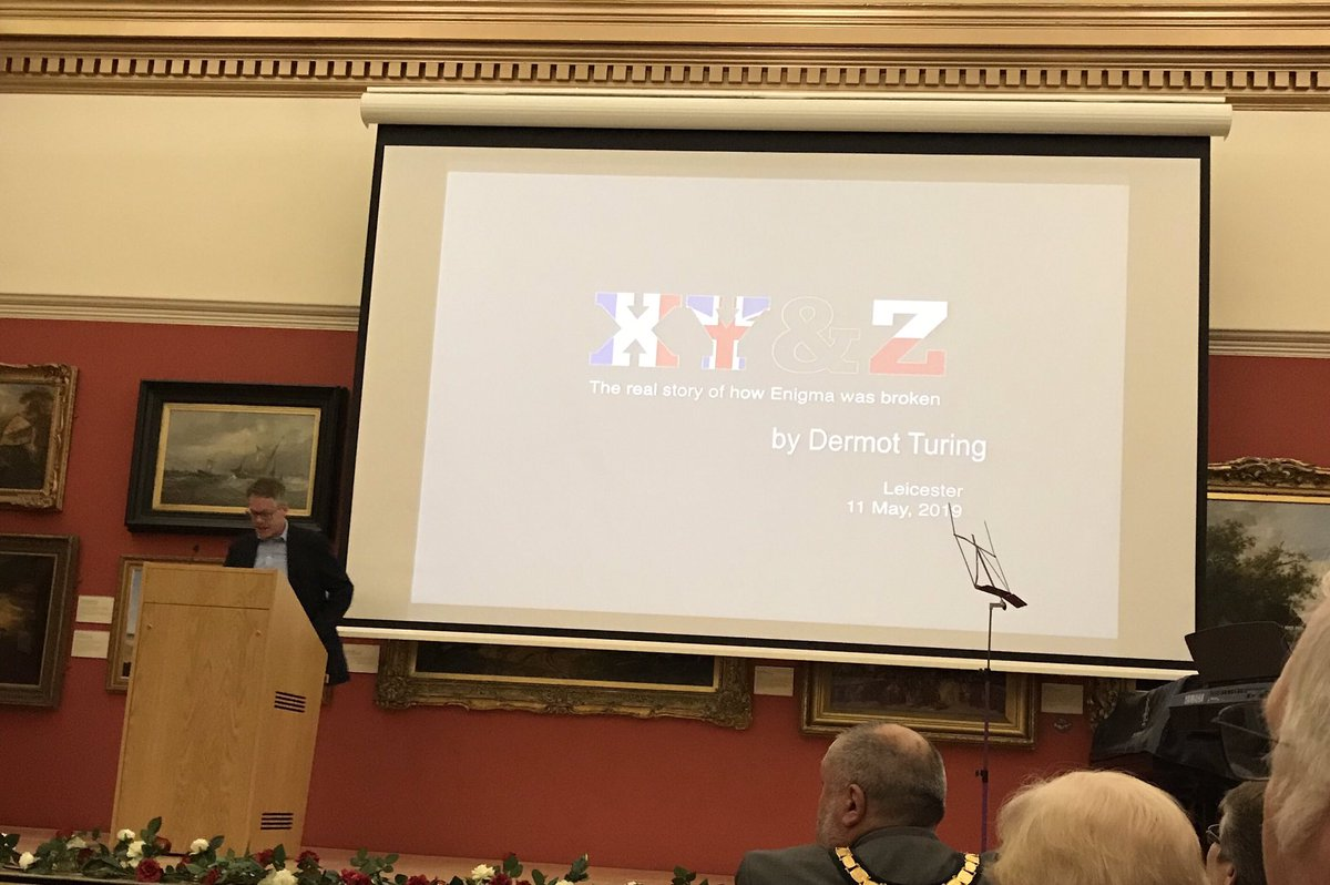 Glad I made it in time to hear Dermot Turing on the story of cracking the Enigma Code as part of #Polish Heritage Day. Thanks @ProjectPolska1 for the invite