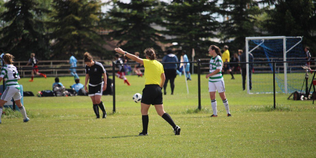Thinking of becoming a referee? Find answers to common questions and access to important information on our referee pages: https://albertasoccer.com/referee/  #AlbertaReferee #ThirdTeam