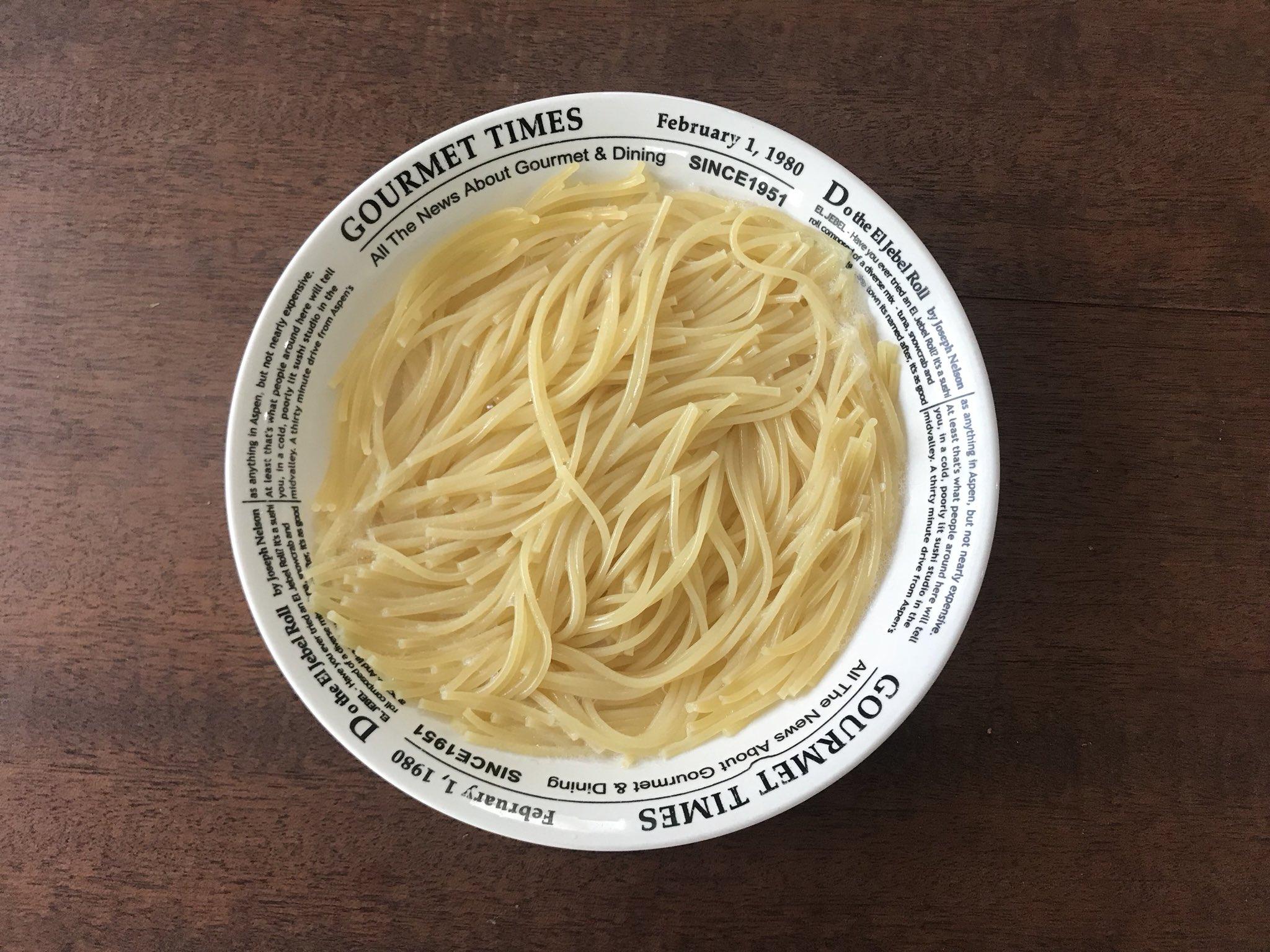 レンチンで!!スパゲティの最高に簡単な茹で方!!