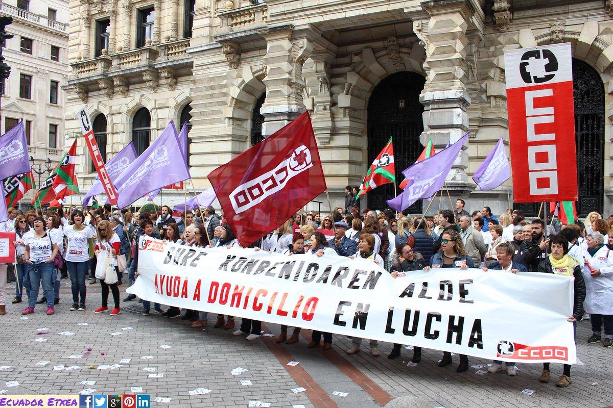 """CCOO exige poner en valor los trabajos de cuidados de las Trabajadoras del Servicio de Ayuda a Domicilio #SAD de #Bizkaia """"Convenio digno ya!"""" https://www.ecuadoretxea.org/ccoo-exige-poner-en-valor-los-trabajos-de-cuidados-de-las-trabajadoras-del-servicio-de-ayuda-a-domicilio/… @CCOOeuskadi"""