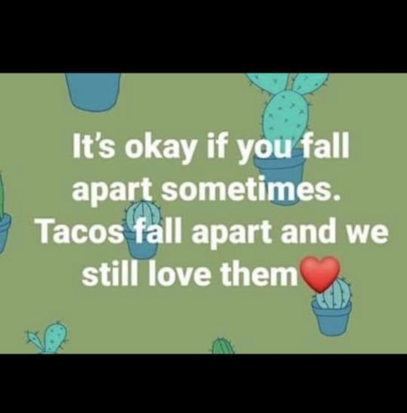 With all the stress of testing season and end of year grades, it's important to remember it's ok to fall apart sometimes ⁦@DublinCoffmanHS⁩ - we still love you! ❤️