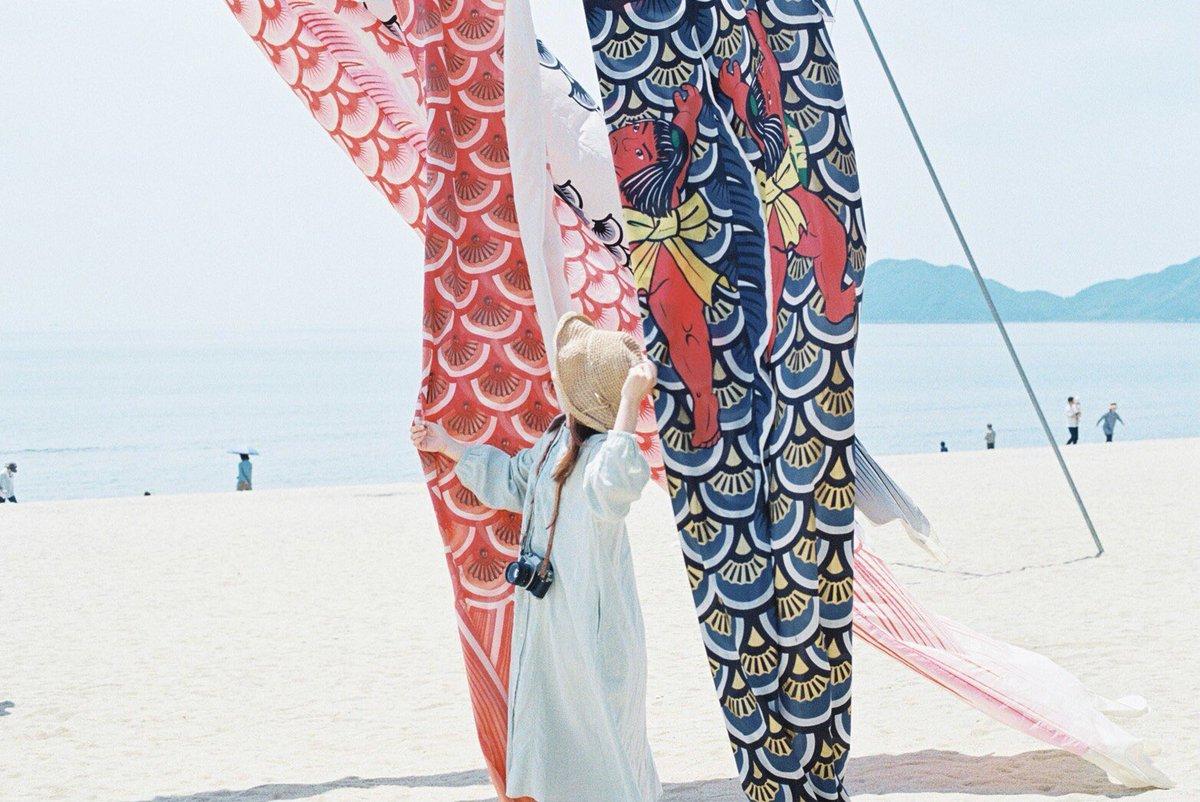虹ヶ浜の鯉のぼり #indy_photolife #film #鯉のぼり https://t.co/mcFFhg8V35