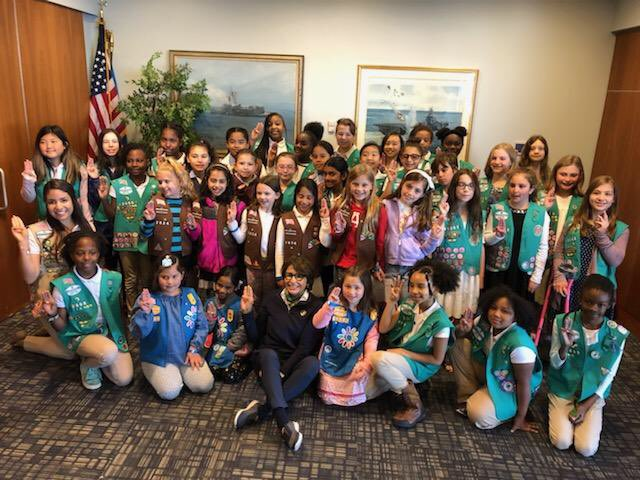 Girl Scout bridging event at the USS Intrepid! Wonderful Girl Scouts from Daisy's to Cadettes!