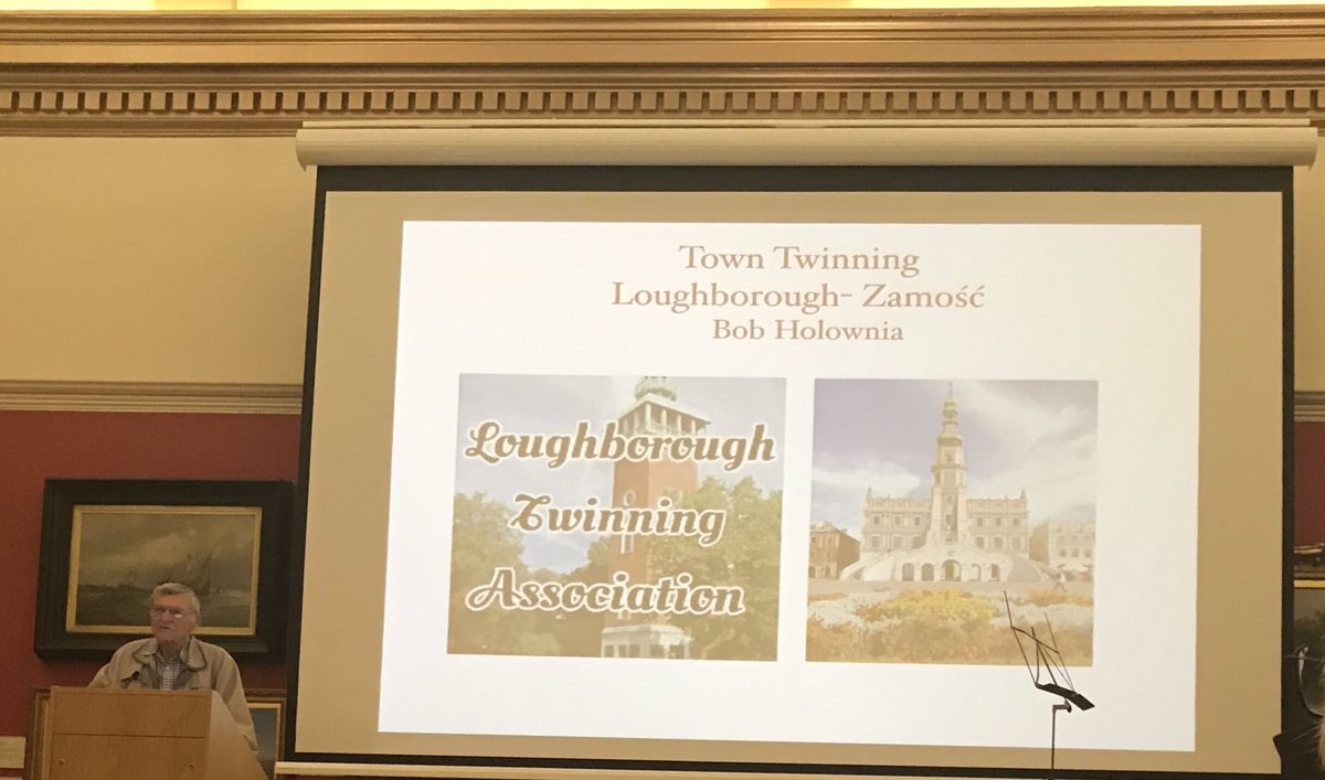 Now hearing about the twinning relationship between Loughborough and Zamosc in Poland 🇵🇱 Sounds like a very positive program