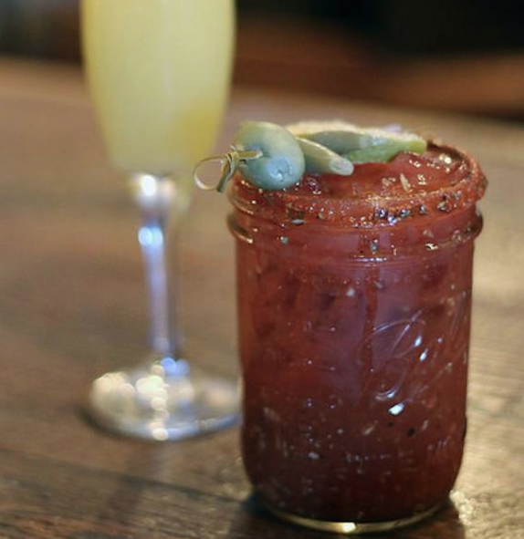 Triple treat Saturday: #Brunch, Bloody Mary's, and #Beignets!