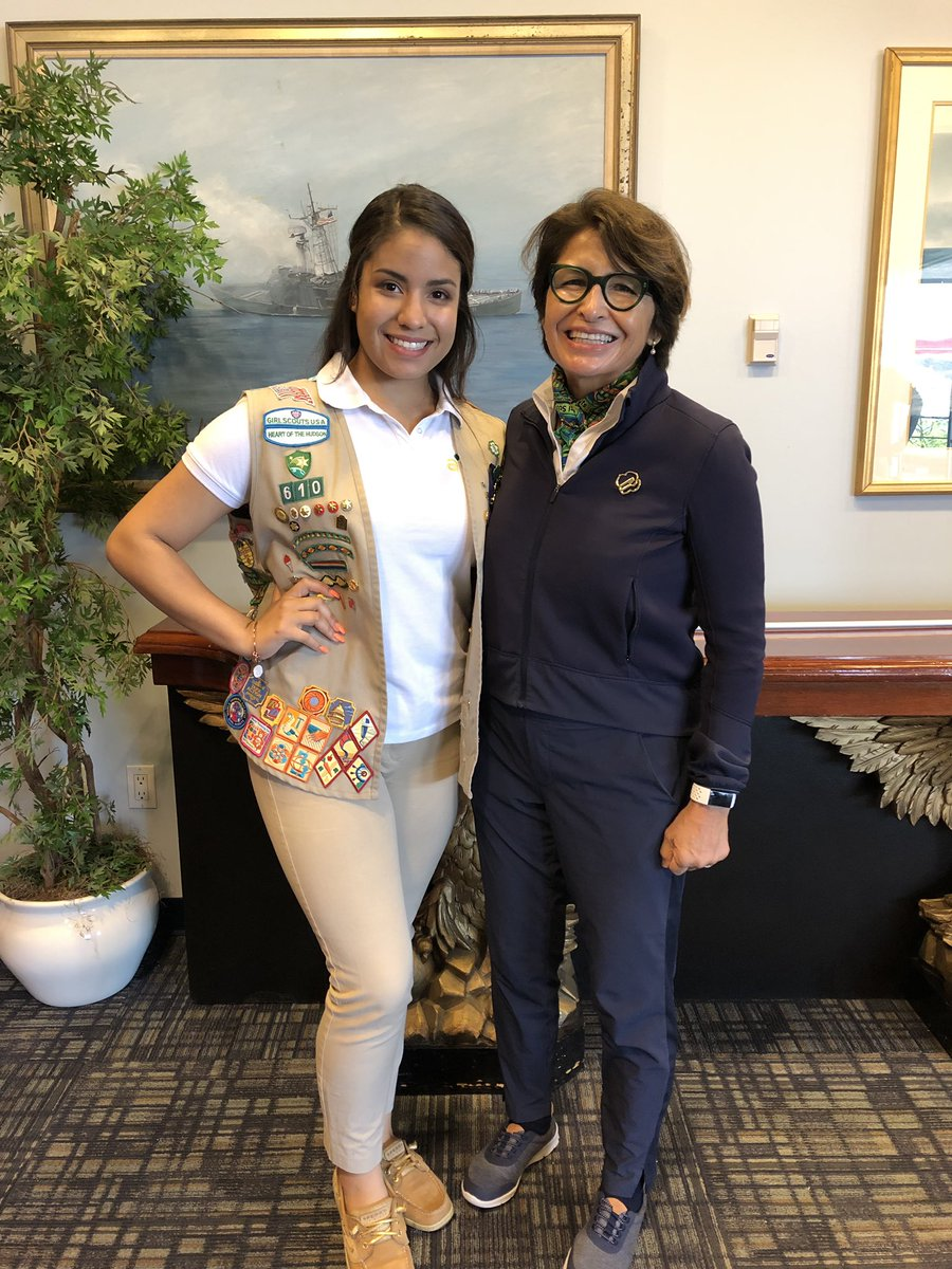 With Gold Award Girl Scout Isabella. Her grand challenge addressed mental health and specifically teen suicide.  So impressive!
