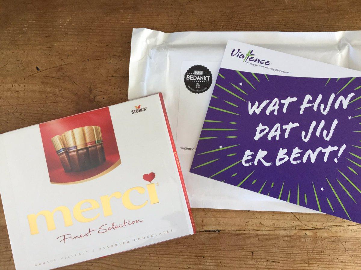 Vandaag vond ik, blij verrast, een bedankje van @Viattence in mijn brievenbus, morgen #dagvandezorg
