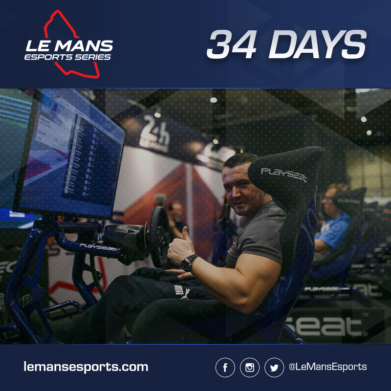 34 Days to go, and EMEA Champion @JOTA_Commando who won 4/6 of the qualifying rounds in the EMEA region, celebrates at @Autosport_Show 2019. Will he be celebrating again at @24hoursoflemans? @FIAWEC @PlayseatGlobal @ForzaMotorsport #Forza7