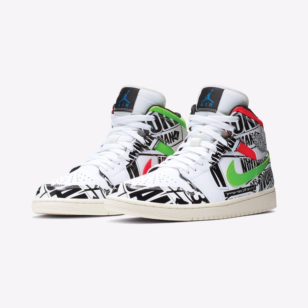"""66f77de97155b4 Air Jordan 1 Mid """" All Over Logo"""""""