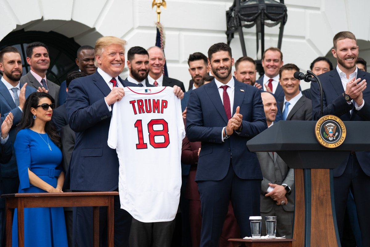 2b0909d7b3 ... the White House this week as President Trump welcomed last year's World  Series baseball champions, the Boston Red Sox! Read more about their visit:  ...