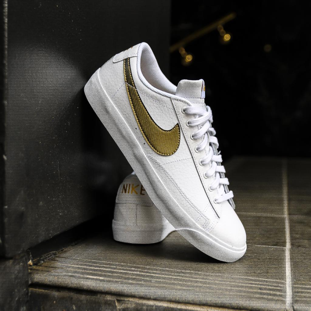4cc24e0a846ddb Presenting the Nike Blazer Low White Gold for your consideration    http   bit.ly 2Q6wNmV pic.twitter.com cGDcwQsFGY