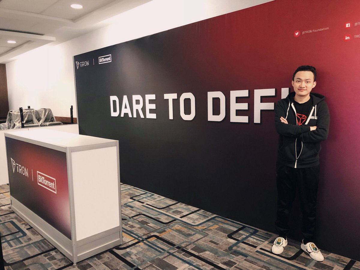 "Justin Sun on Twitter: ""DARE TO DEFi. #TRON #BitTorrent ..."