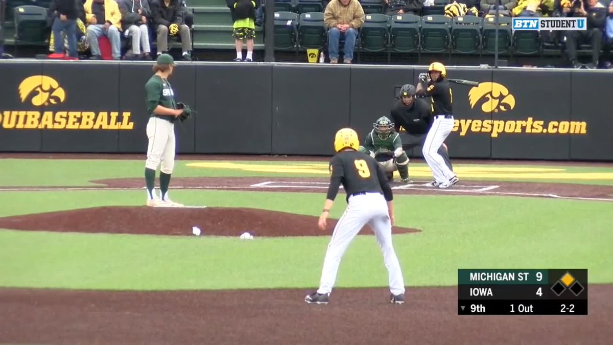 Just like they drew it up!  @statebaseball pitcher Colten Panaranto snags a come-backer and doubles up the Iowa runner to close things out against the Hawkeyes!