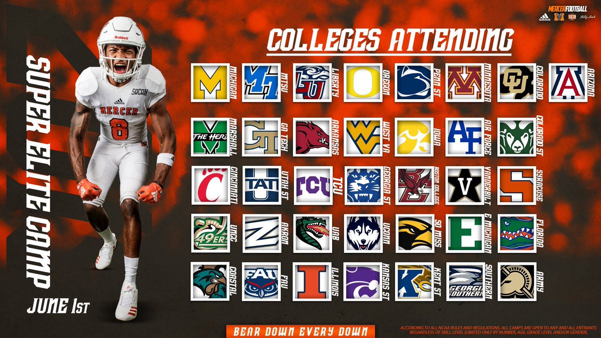 """24be0a35e28 """"Mercer is a must stop Camp for us every year. The location, exposure, and  organization is the best for our guys. See u June 1st""""pic.twitter .com/oniDH8K36q"""