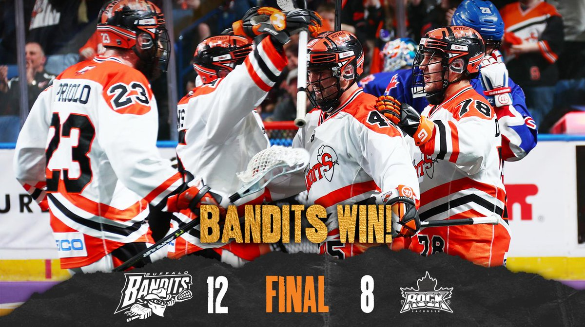 BANDITS WIN!   Banditland is hosting GAME 1 of the @NLL Finals next Saturday: http://bufbandits.co/4ROdAR
