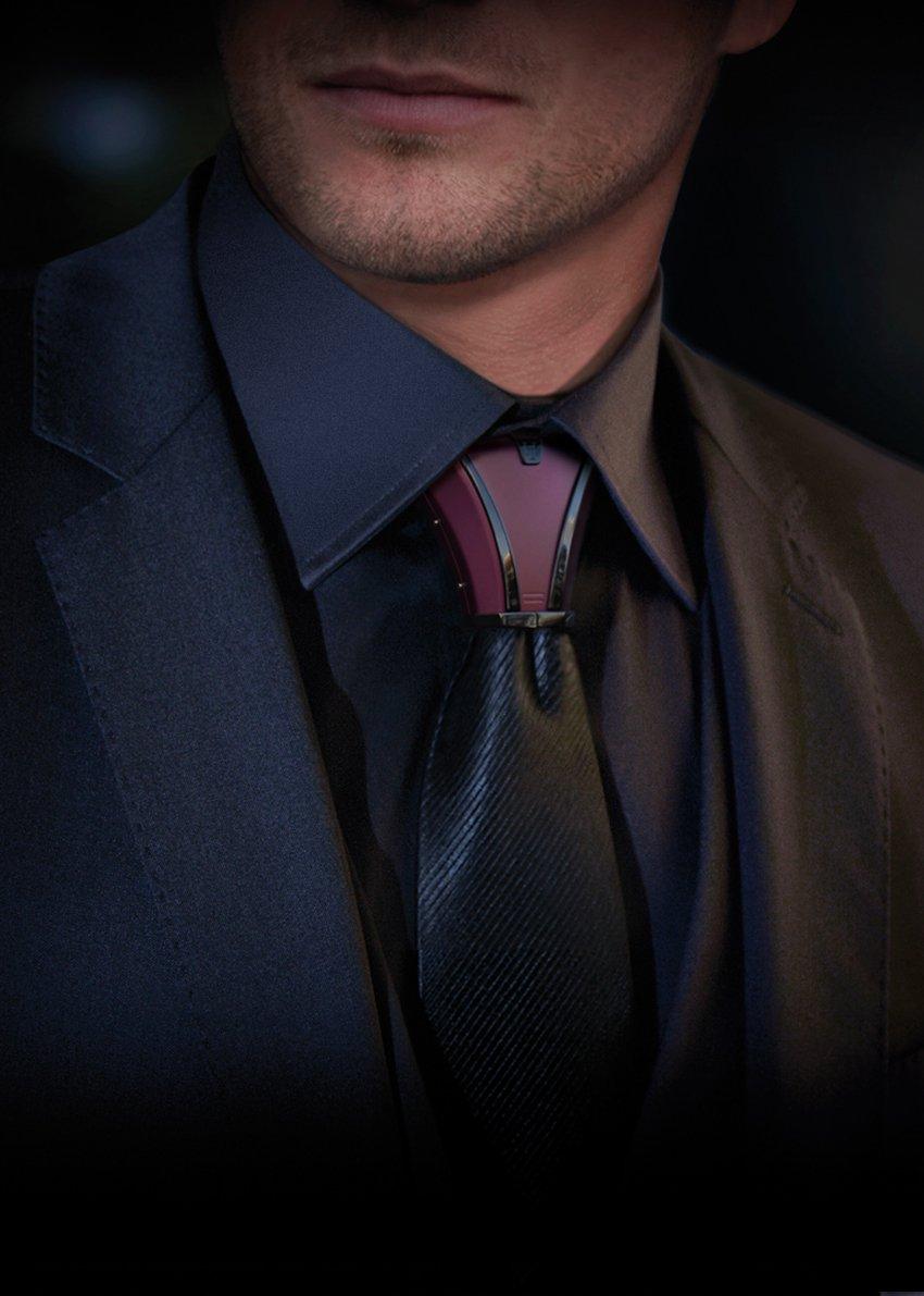 ネクタイの結び目につけるアクセサリーがかっこよい!!!