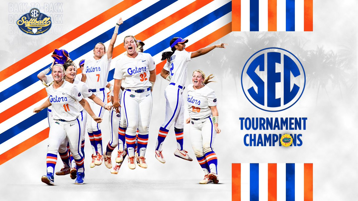 BACK-to-BACK @SEC Tournament Champions‼️#GoGators🐊