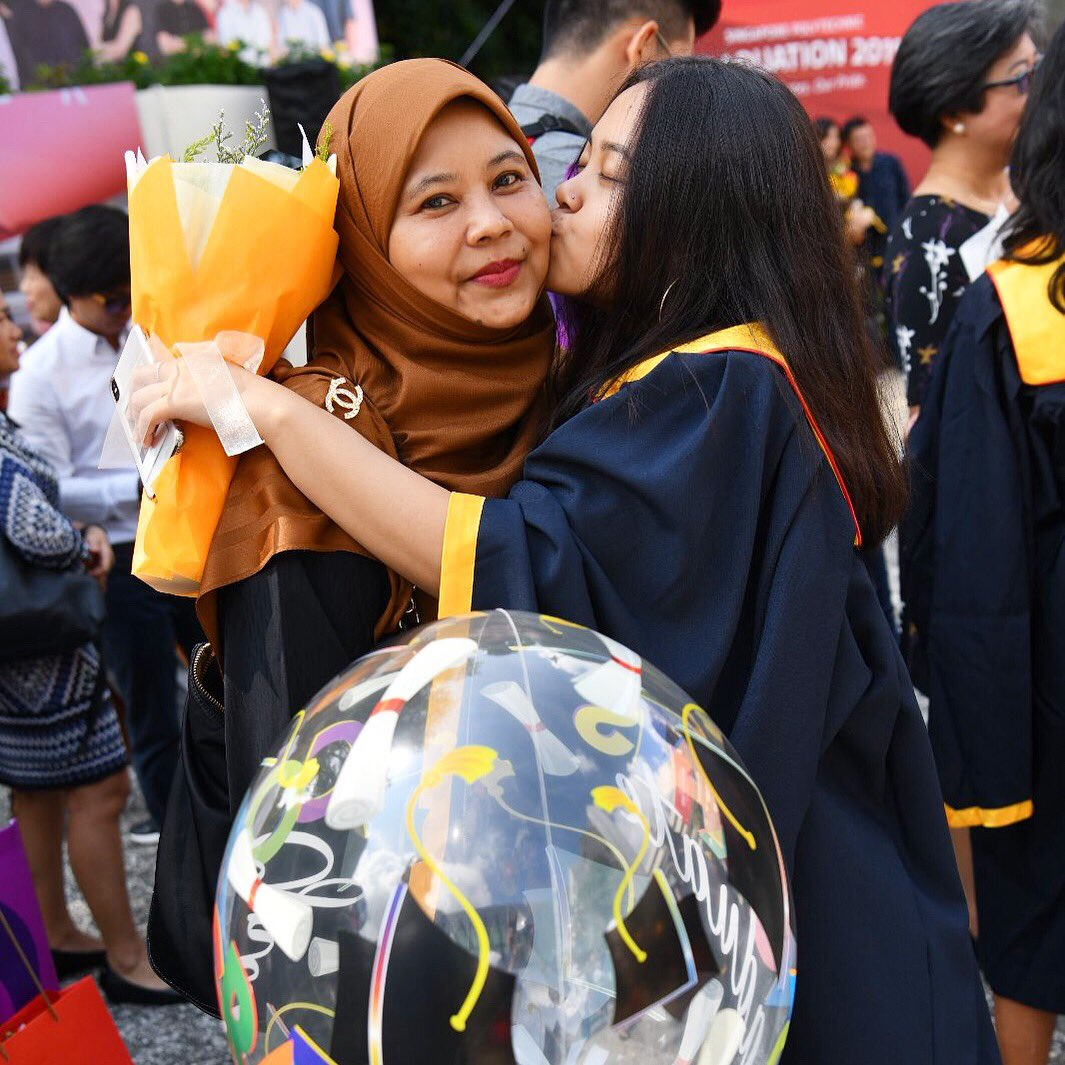 """""""The influence of a mother in the lives of her children is beyond calculation"""" We're having MAJOR post-grad withdrawals! Here's a little #throwback to #SPGrad19  Tag us in your Mother's Day pics!#speye #singaporepoly #mothersday #MothersDay2019pic.twitter.com/DKxt9Y6M8B – at Singapore Polytechnic (SP)"""