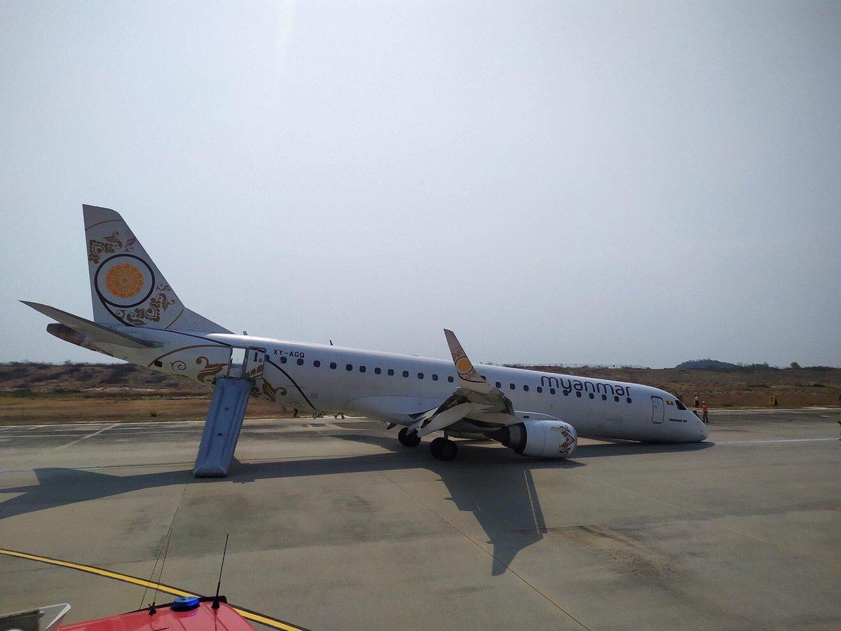 Жесткая посадка конкурента российского самолета Sukhoi Superjet 100 в Мьянме