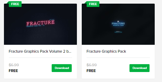 Fracture Graphics Pack 1 and 2 are now available for free