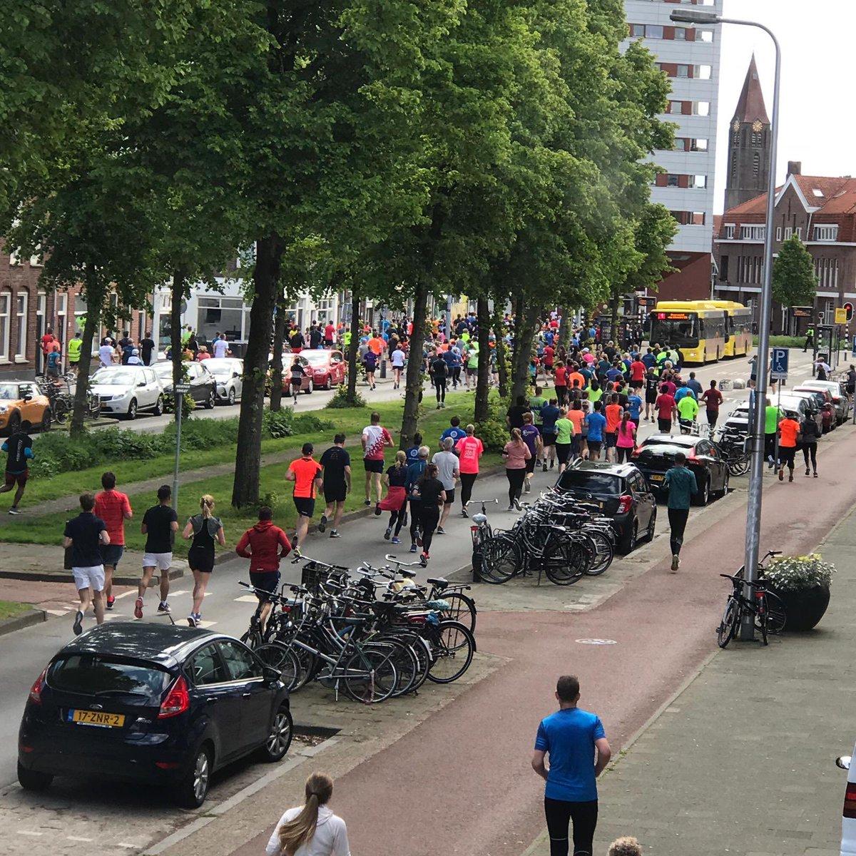Chaos bij Utrecht Marathon, deelnemers lopen massaal verkeerde kant op