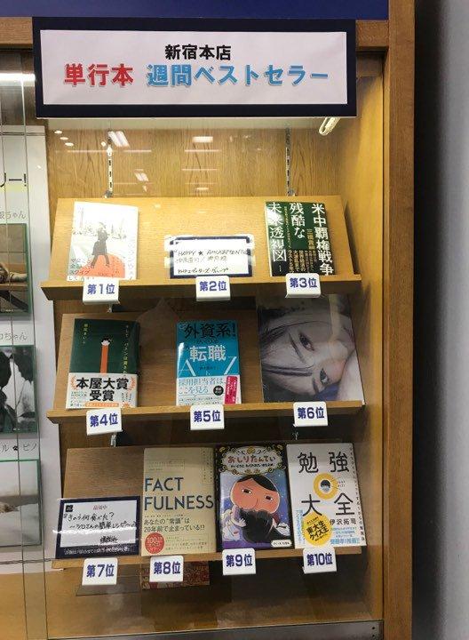 新刊『やっぱり外資系!がいい人の必勝転職AtoZ』が、紀伊国屋書店・新宿本店で、5/6-5/12の週 単行本5位に選ばれました!  5/15(水)19:00から、同店9Fイベントホールで開催される、出版記念セミナーの追い風になりそうで嬉しいです。詳細は→