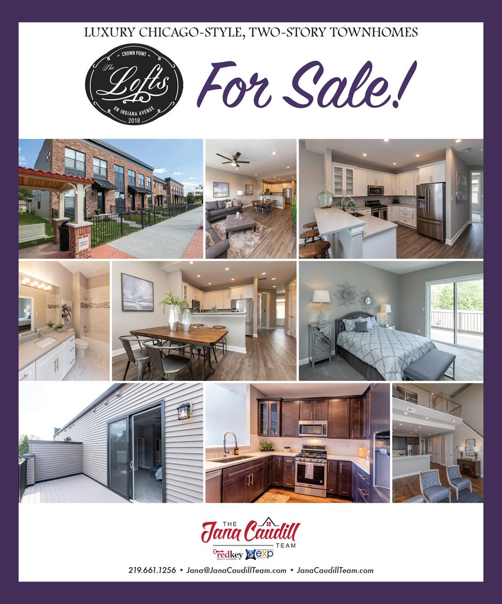 The Jana Caudill Team Brokered By Exp Realty On Twitter Luxury Chicago Style Townhomes Located In The Heart Of Crown Point The Lofts On Indiana Ave Modern 2 Story Townhomes 2 3 Bedroom 2 2 5 Bath