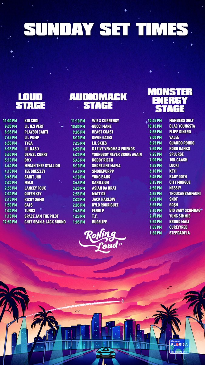 Rolling Loud On Twitter Sunday Set Times Wallpaper Rt To Save A Friend We were on the ground at rolling loud miami 2019 for all the weekend's best. rolling loud on twitter sunday set